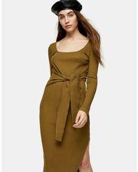 Vestito longuette di TOPSHOP in Green
