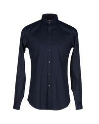 Camicia di Mauro Grifoni in Blue da Uomo