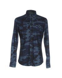 Hydrogen - Blue Denim Shirt for Men - Lyst