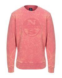 Felpa di North Sails in Pink da Uomo