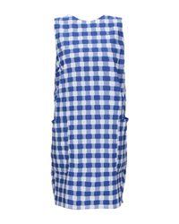 Robe courte Mds Stripes en coloris Blue