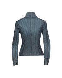 Blu Byblos Blue Denim Outerwear