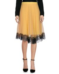 RED Valentino Yellow Knee Length Skirt