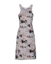 Patrizia Pepe Gray Short Dress