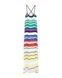 Mrz White Langes Kleid