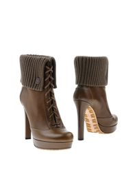 Gucci Green Ankle Boots