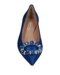 Casadei Blue Ballet Flats