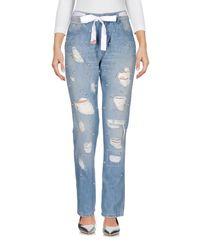 Twin Set Blue Denim Trousers