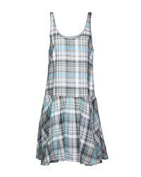 Suno Gray Short Dress