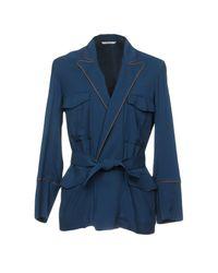 Umit Benan Blue Blazer for men