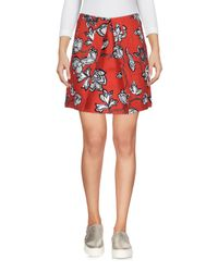 Finders Keepers Red Denim Skirt