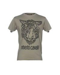 T-shirt Roberto Cavalli pour homme en coloris Gray