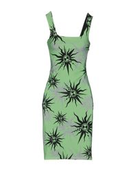Fausto Puglisi Green Short Dress