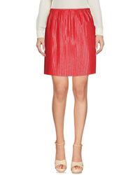 MSGM Red Knee Length Skirt