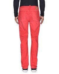 Jeckerson Red Denim Pants for men