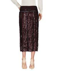Emilio Pucci Purple 3/4 Length Skirt