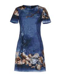 Vestito corto di Alberta Ferretti in Blue