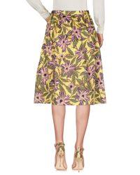 RED Valentino - Yellow 3/4 Length Skirt - Lyst