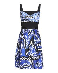 Diane von Furstenberg - Blue Short Dress - Lyst