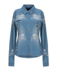 Camicia jeans di Philipp Plein in Blue
