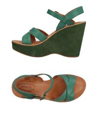 Kork-Ease Green Sandals