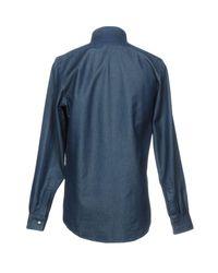 Richard James - Blue Denim Shirts for Men - Lyst