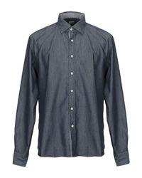 Camicia jeans di Xacus in Blue da Uomo