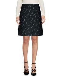 Lanvin Gray Knee Length Skirt