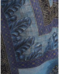 Foulard Versace pour homme en coloris Blue