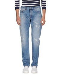 Mauro Grifoni Blue Denim Pants for men