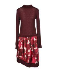 Manila Grace Red Kurzes Kleid