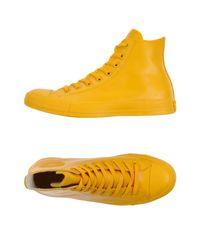 Sneakers & Tennis shoes alte di Converse in Yellow da Uomo