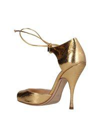 Nina Ricci - Metallic Sandals - Lyst