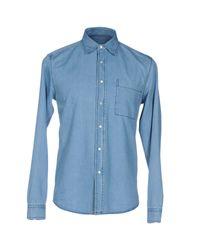 AMI Blue Denim Shirt for men