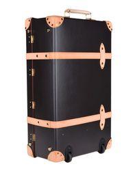 Globe-Trotter Brown Wheeled Luggage