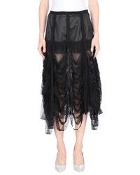 Maison Margiela Black 3/4 Length Skirt