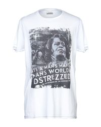 T-shirt di Dstrezzed in White da Uomo