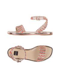 Sandales Rodo en coloris Pink