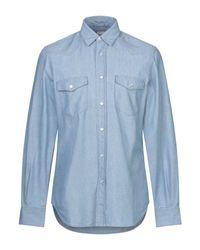 Camisa vaquera Aspesi de hombre de color Blue