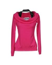 Moschino - Purple Sweaters - Lyst