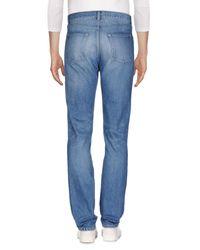 Saint Laurent Blue Denim Pants for men