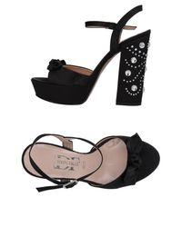 Divine Follie Black Sandals