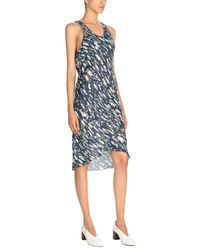 Trussardi - Blue Knee-length Dress - Lyst