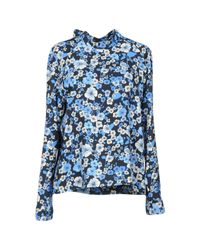 MSGM Blue Bluse