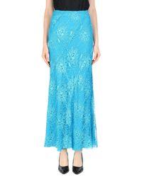 Alberta Ferretti Blue Long Skirt