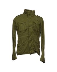 Fradi - Green Down Jacket - Lyst