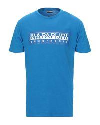 T-shirt di Napapijri in Blue da Uomo