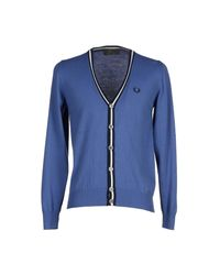 Fred Perry - Blue Cardigan for Men - Lyst