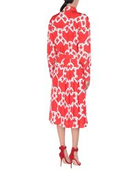Vestido a media pierna MSGM de color Red