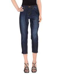 Joe's Jeans - Blue Denim Pants - Lyst